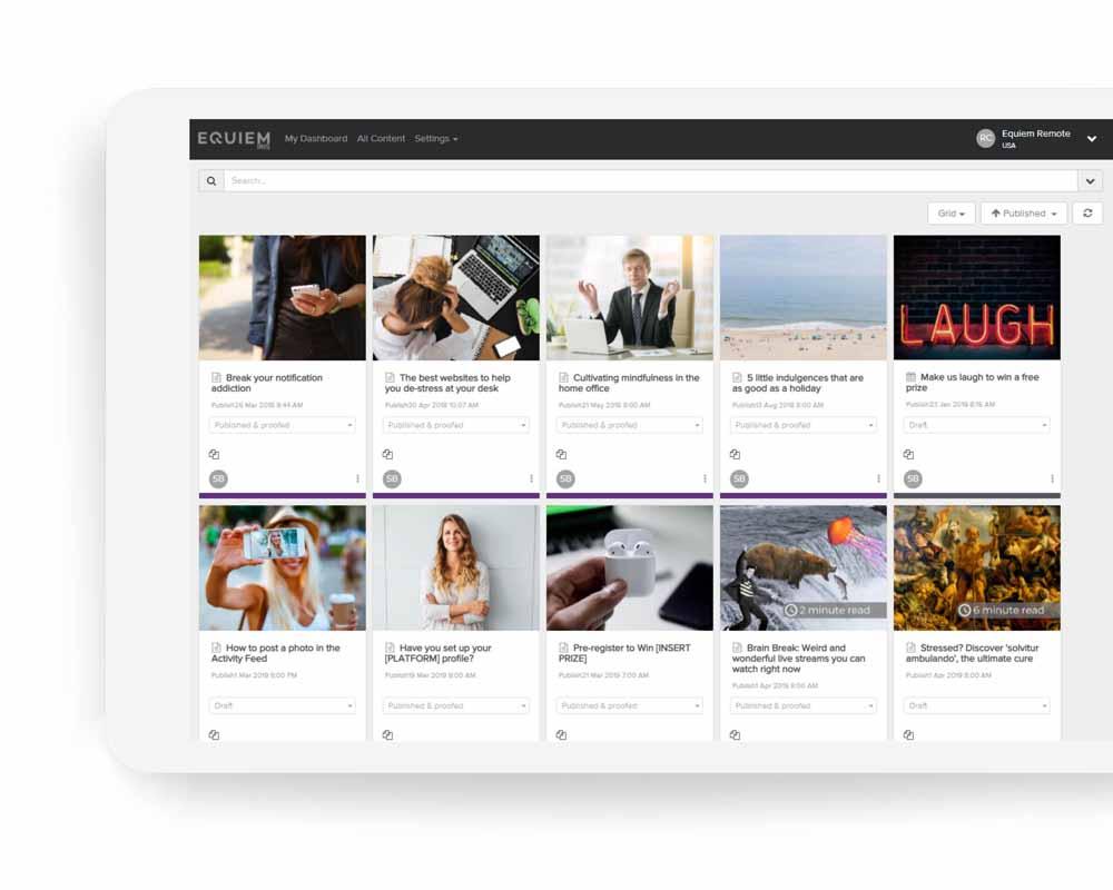 Community engagement app #3 Office Community Engagement App   Equiem Tenant Portal