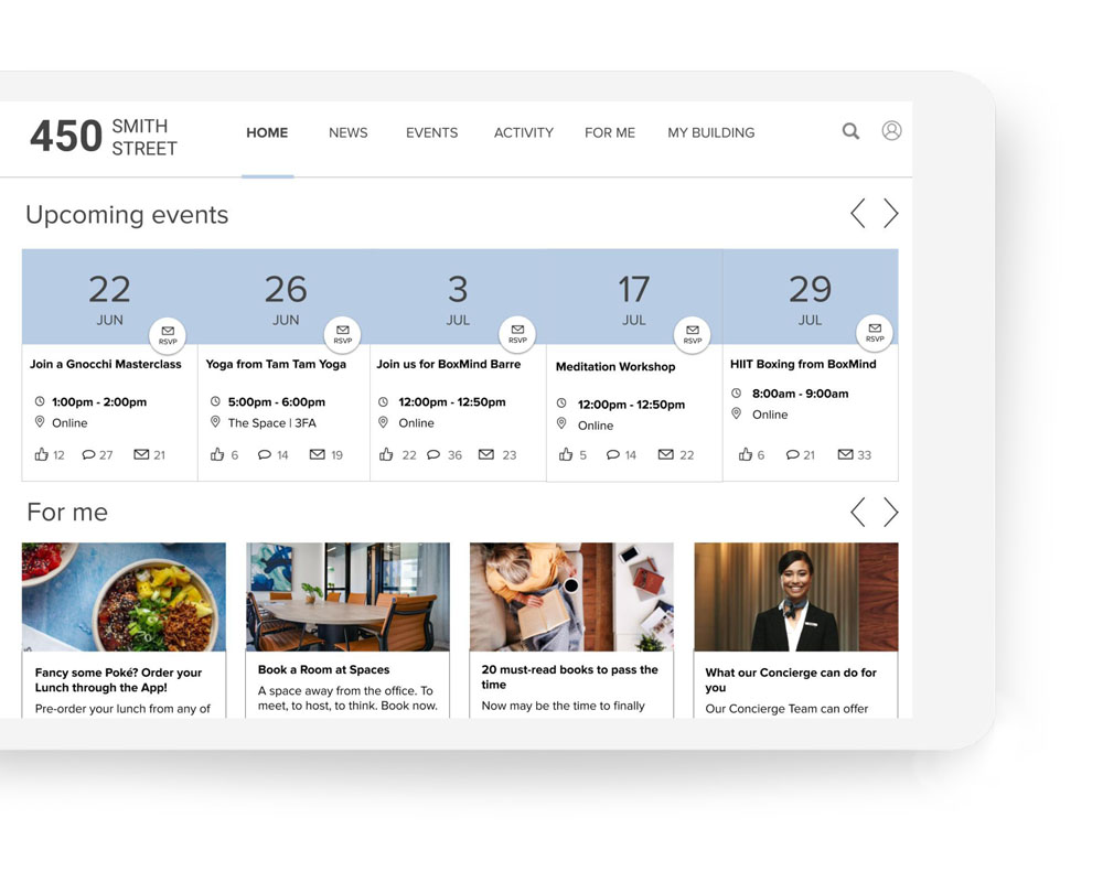 Community engagement app #4 Community Engagement App | Equiem Tenant Portal