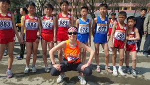Iva Hafner with North Korean kids
