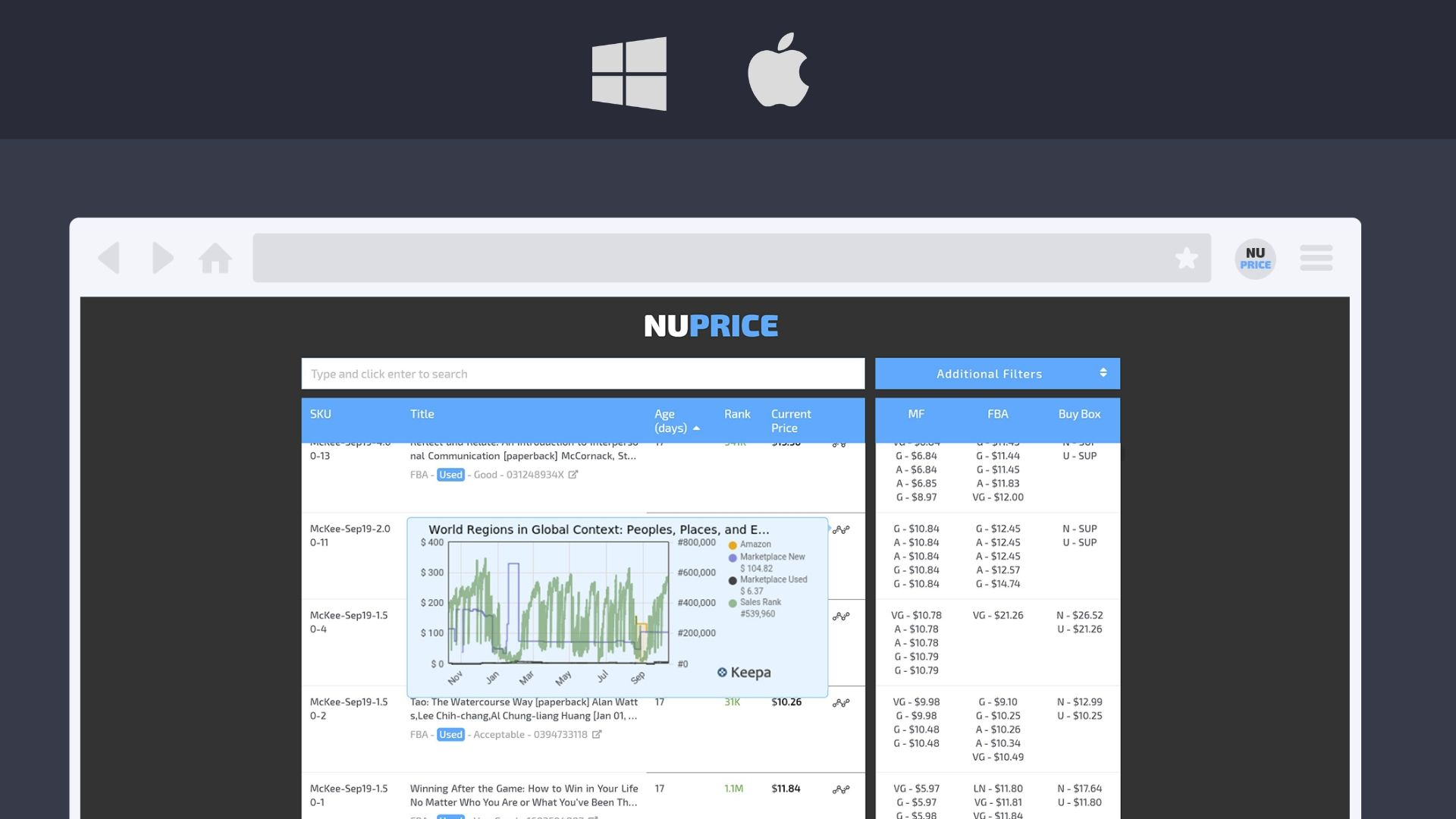 NuPrice Developed for Windows and Mac
