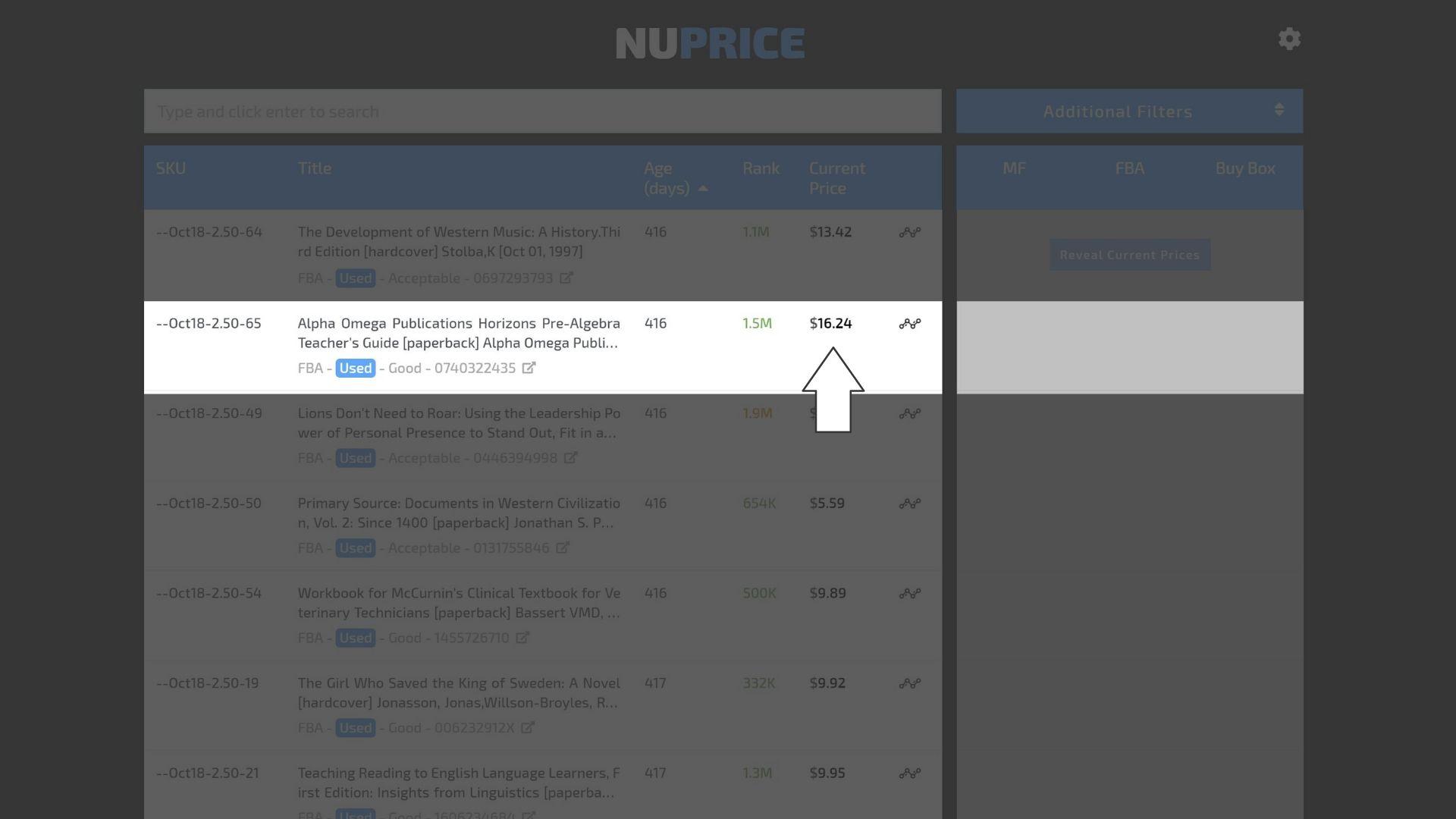 Amazon Current Price