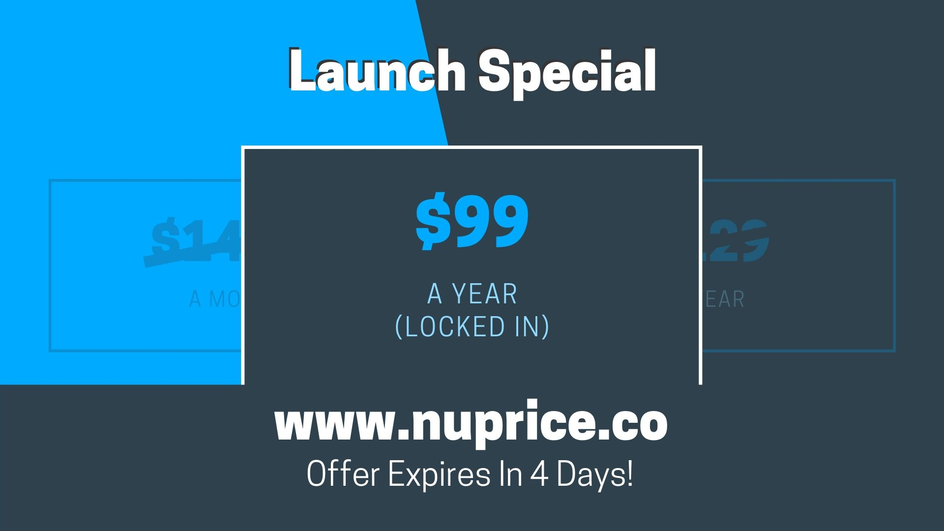 NuPrice Launch Special