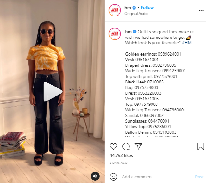 H&M-social-commerce-example