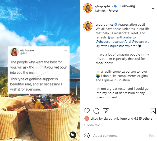 Glo-raphics-travel-influencer-and-educator-tweet-post