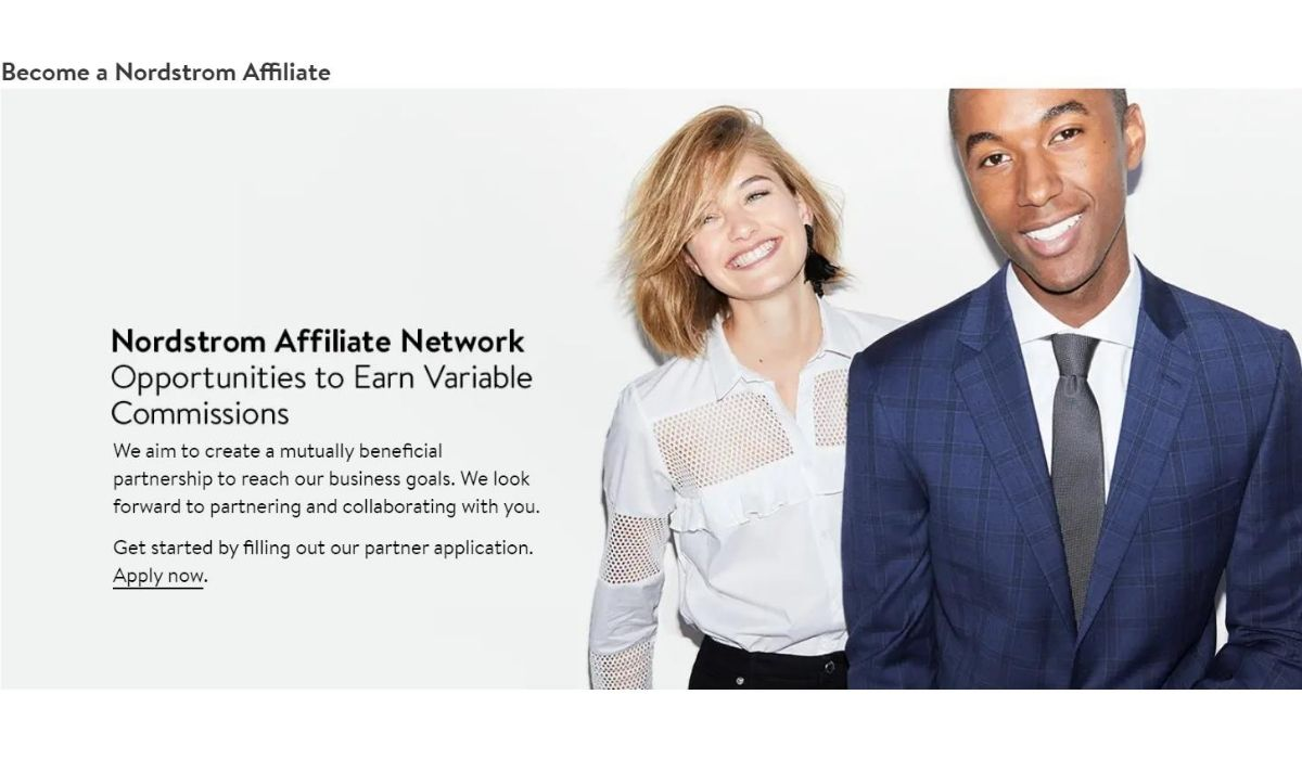 Image of the Nordstrom affiliate network application