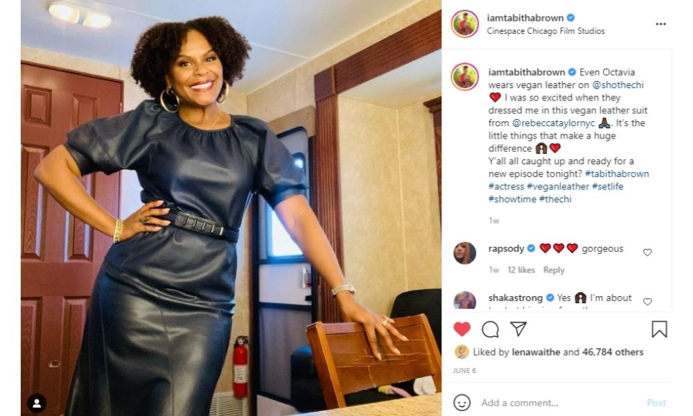 Instagram Post of Tabitha Brown