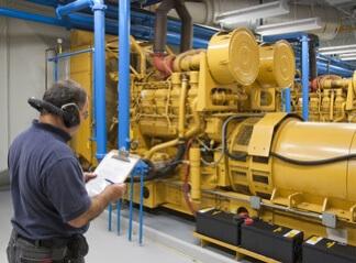 yellow-generator-for-backup-power