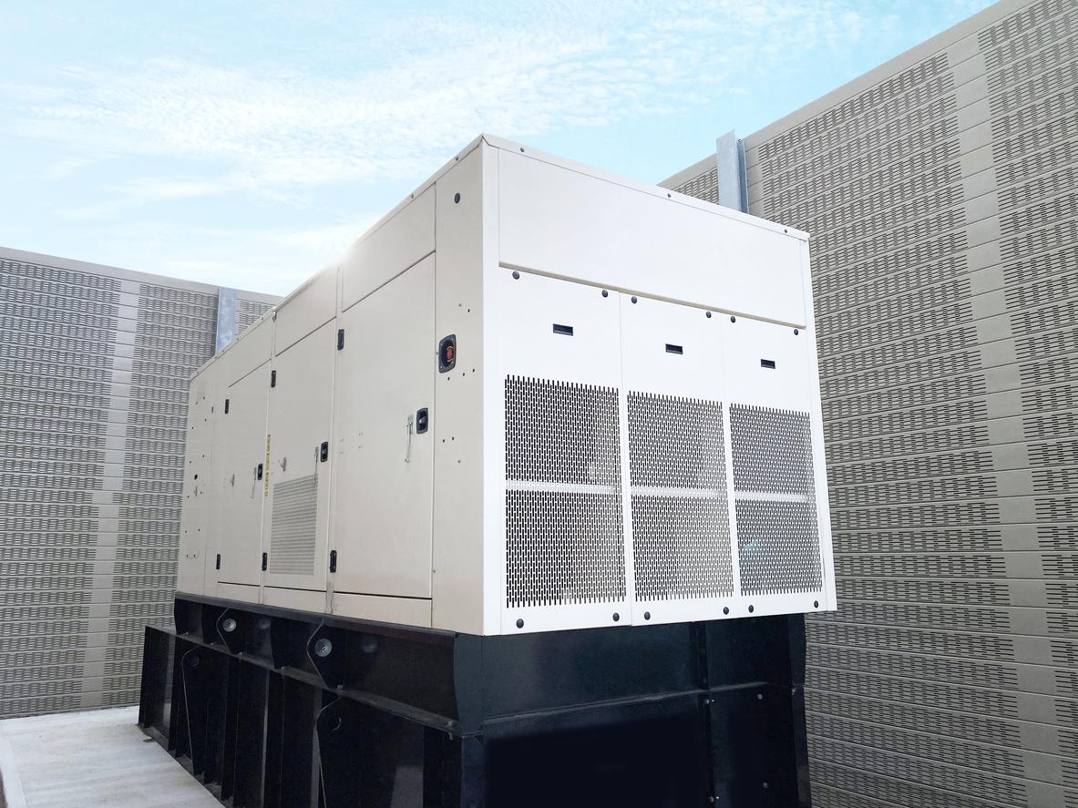 white-diesel-standby-generator