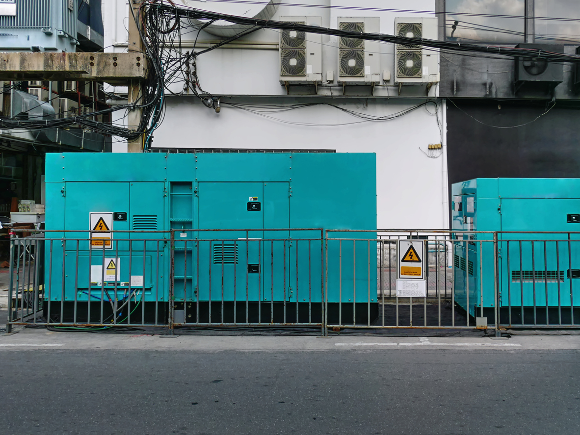 blue-electric-power-generator