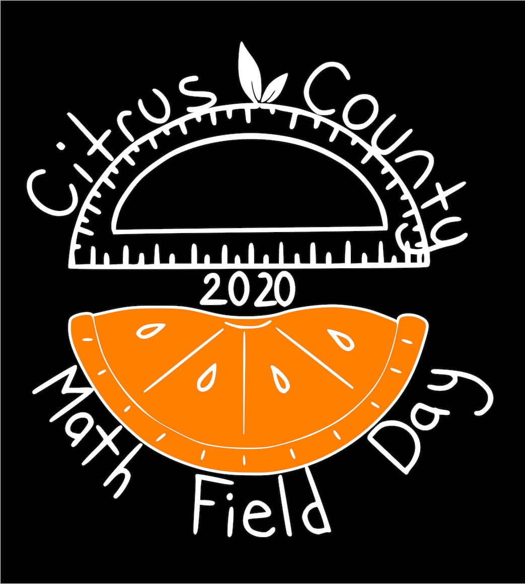 Math Field Day logo with sunglasses