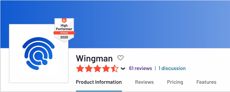 Wingman on G2 Crowd