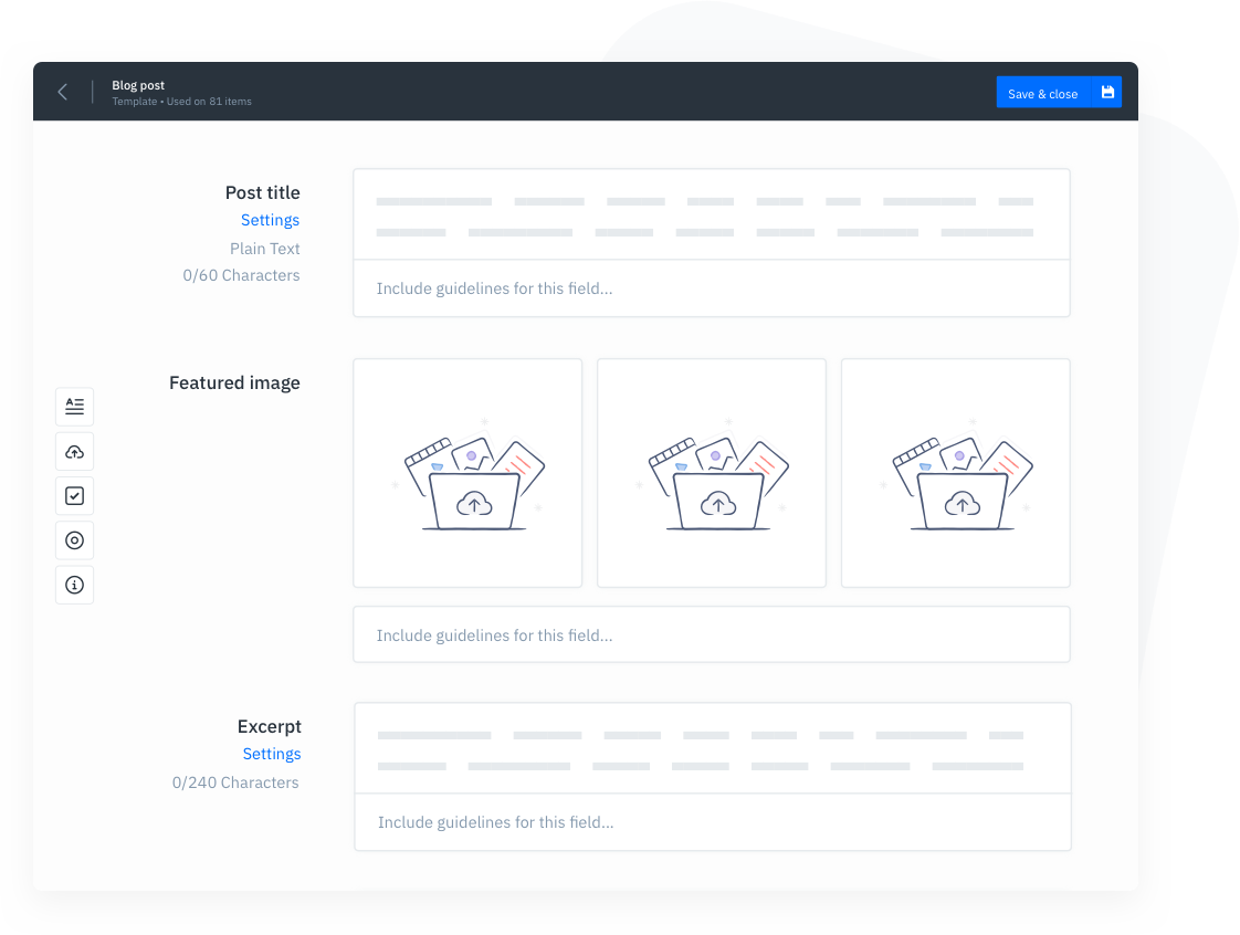 GatherContent Content Template Builder UI
