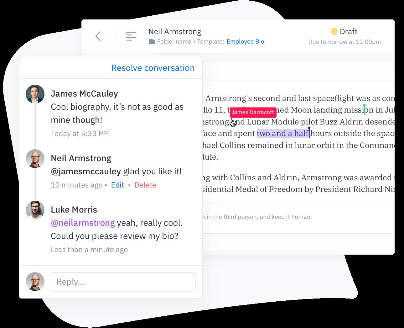 GatherContent Collaborative Content Editor UI