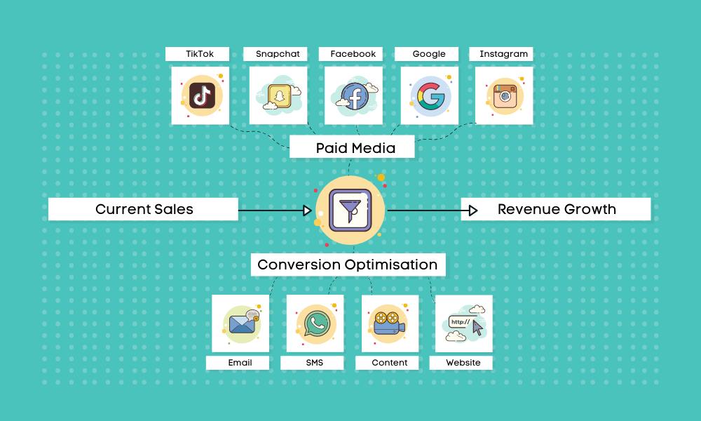 Social Enviro wholistic approach funnel infograph