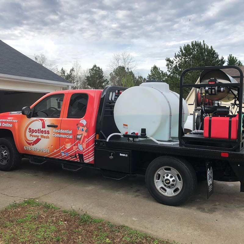 Spotless Power Wash truck in Monroe, GA