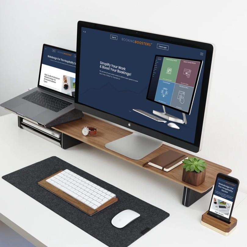 Booking Boosters Website Design Mockup
