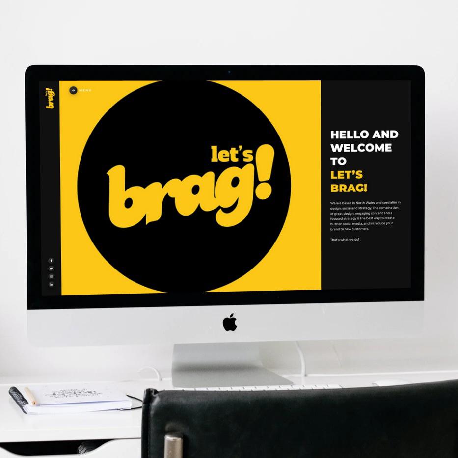 Lets Brag Website Design Mockup