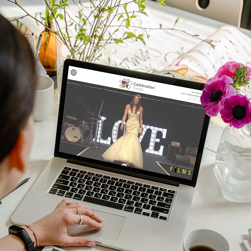 Celebration Events Website Design Mockup
