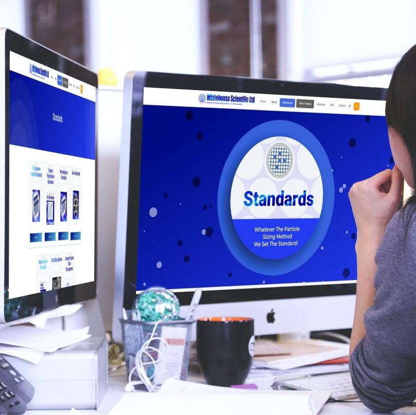 Whitehouse Scientific Website Design Mockup