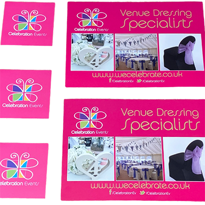 Celebration Events Print Design