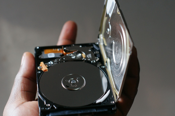 the inside of a hard drive