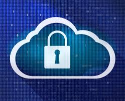 padlock in cloud graphic