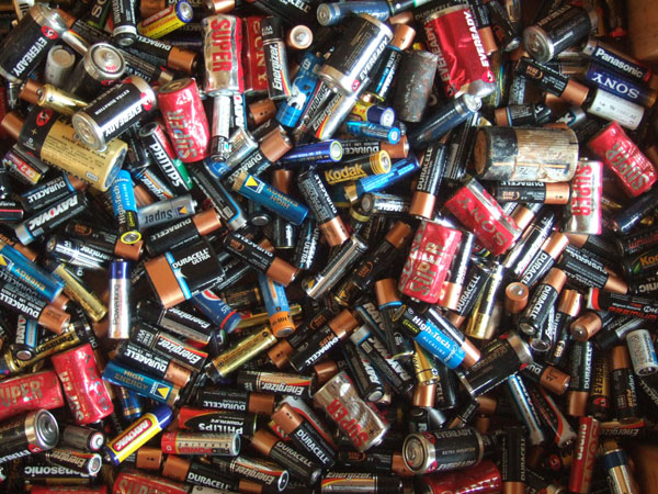 recycled batteries