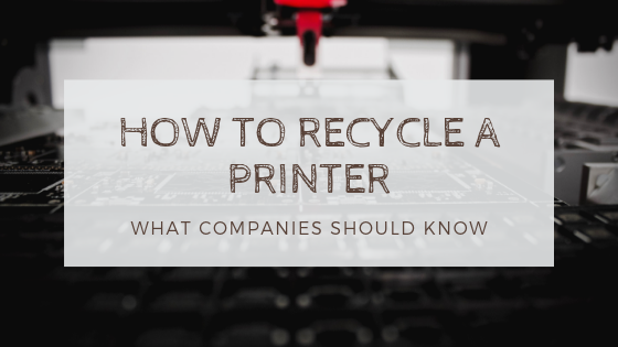 recycle a printer