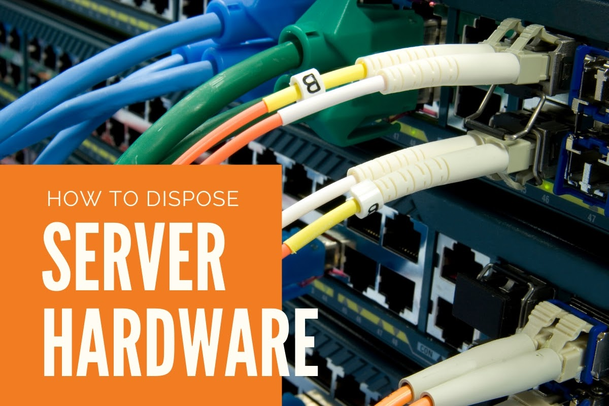 How should you dispose of old server hardware?