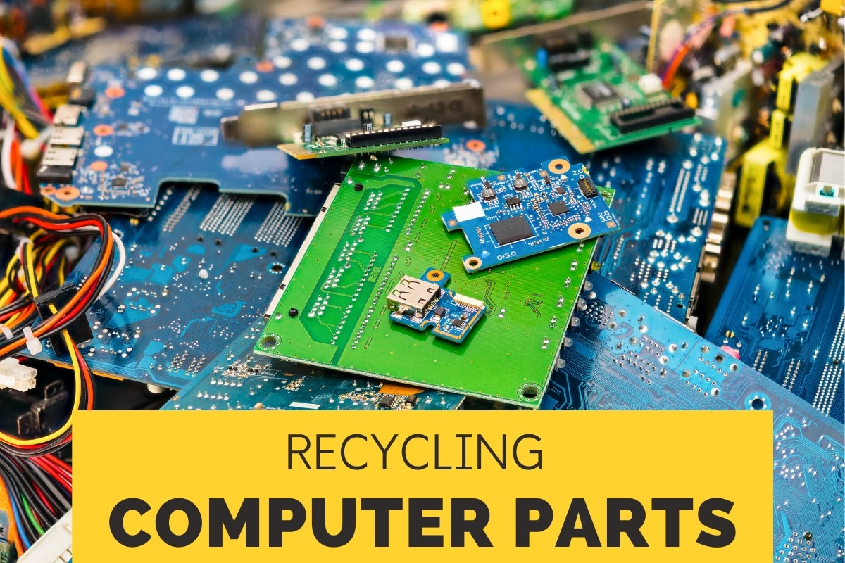 Parts in a computer that can be recycled