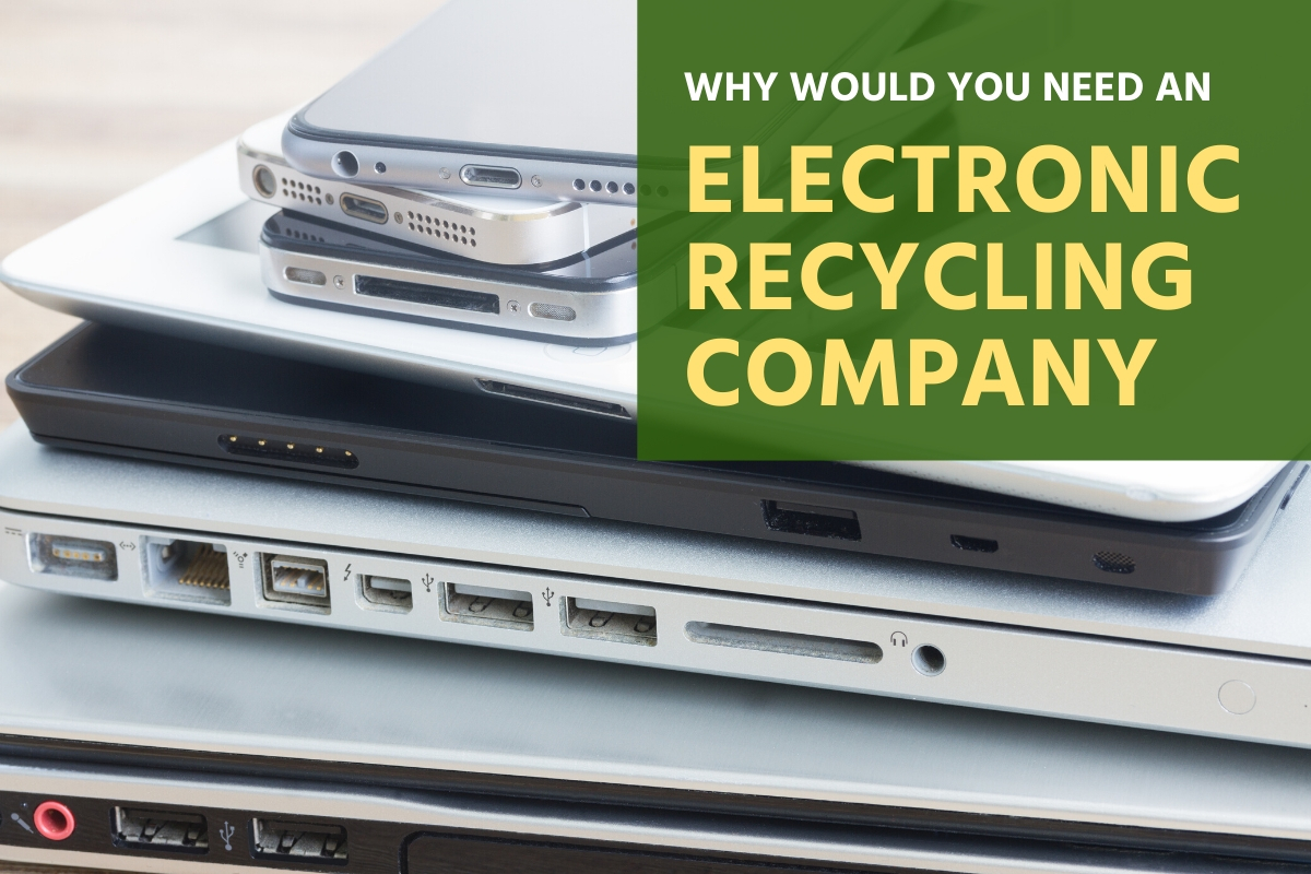 Electronic Devices ready to be recycled