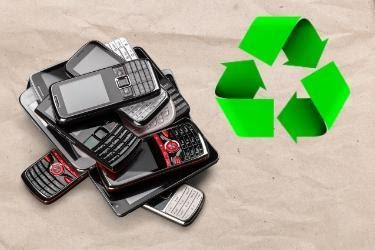 Recycling cellphones concept