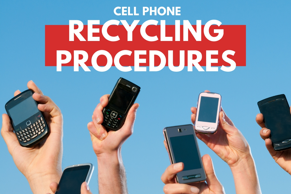 Hands with cell phones - Cell Phone Recycling Procedures