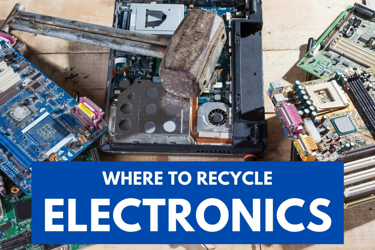 Computer pieces ready for recycle - Where To Recycle Electronics