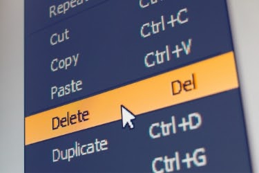 "Cursor focusing on the ""Delete"" tab"