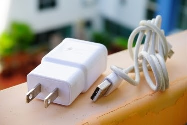 Mobile phone cable and charger.