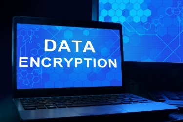 Data Encryption screen in a laptop