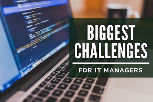 Biggest Challenges for IT Managers - Laptop with codes