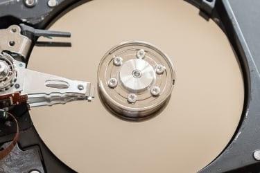 Hard Disk Closeup