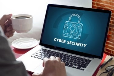 Laptop with Cyber Security