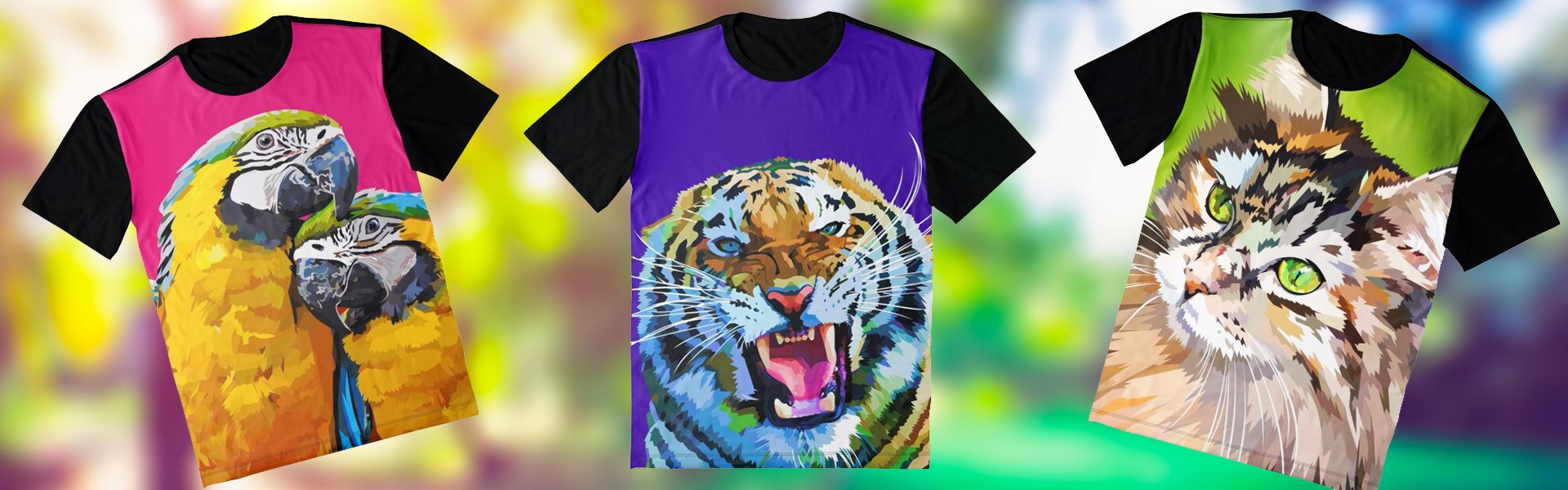 Tshirts met dieren print / T-shirts with animal prints