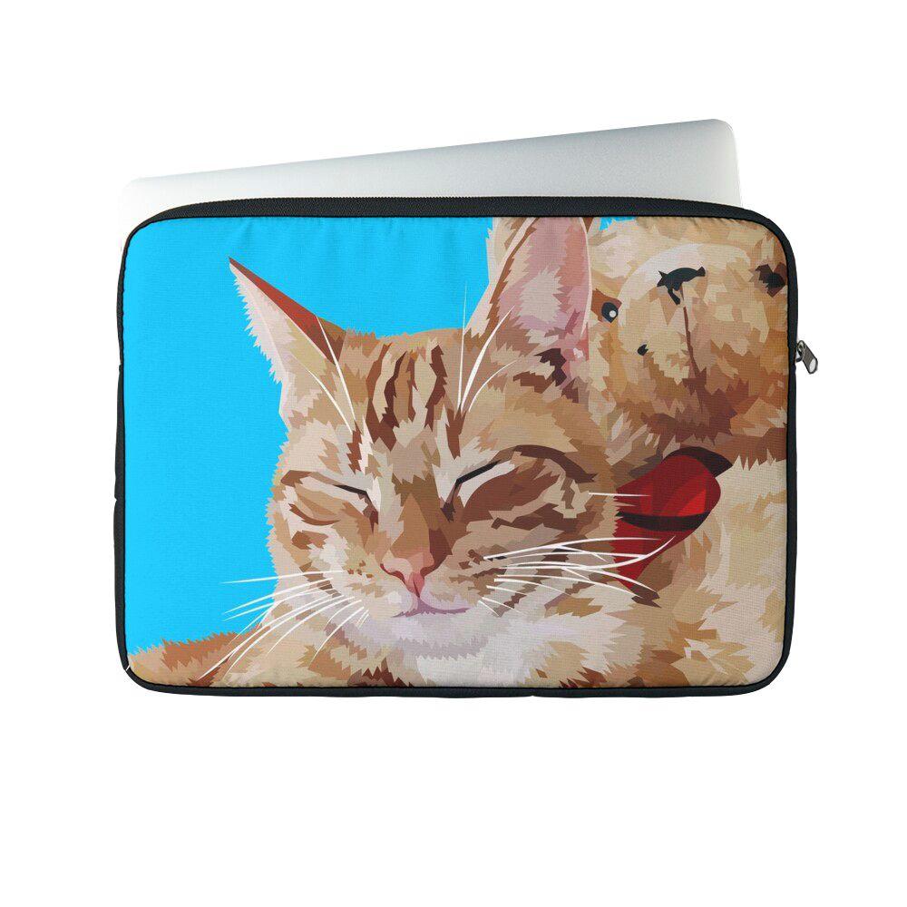 Relaxing Cat - Laptop sleeve