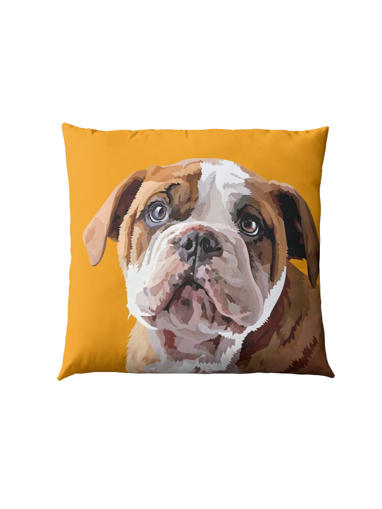 Bulldog Puppy Thinking - Pillow