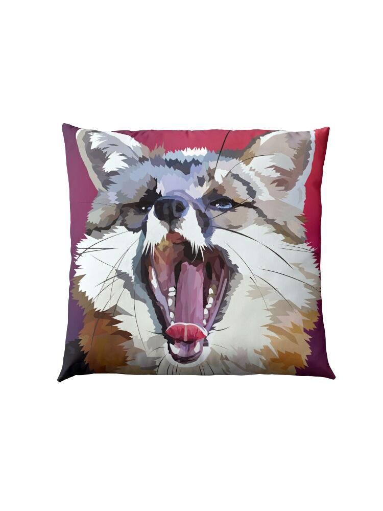 Yawning Fox -Pillow