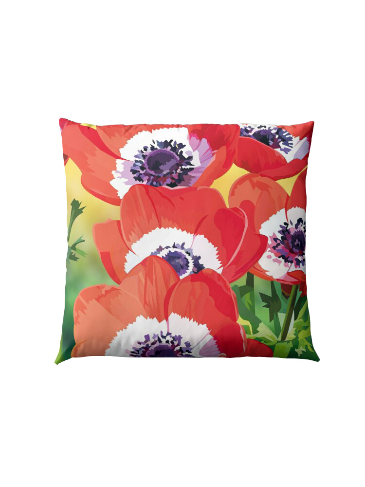 Red poppies -  Pillow
