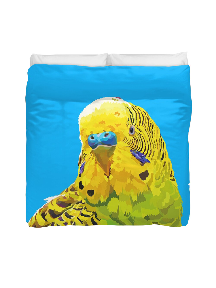 Yellow and Green Parakeet - Duvetcovers