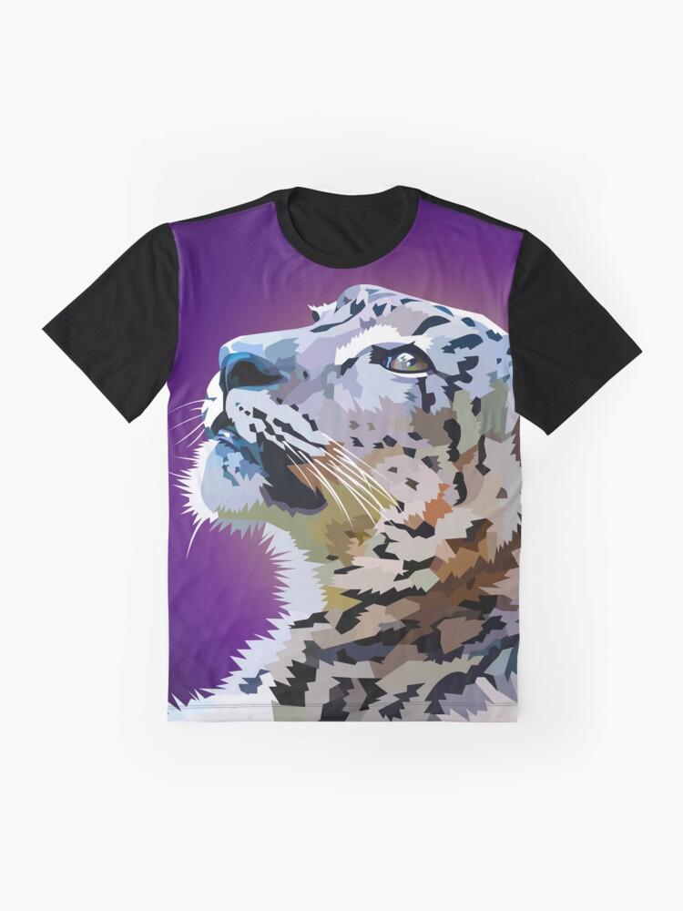 Staring Snowleopard - Tshirt