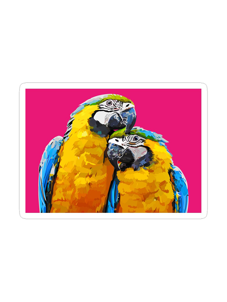 Sunset Love Parrot Stickers