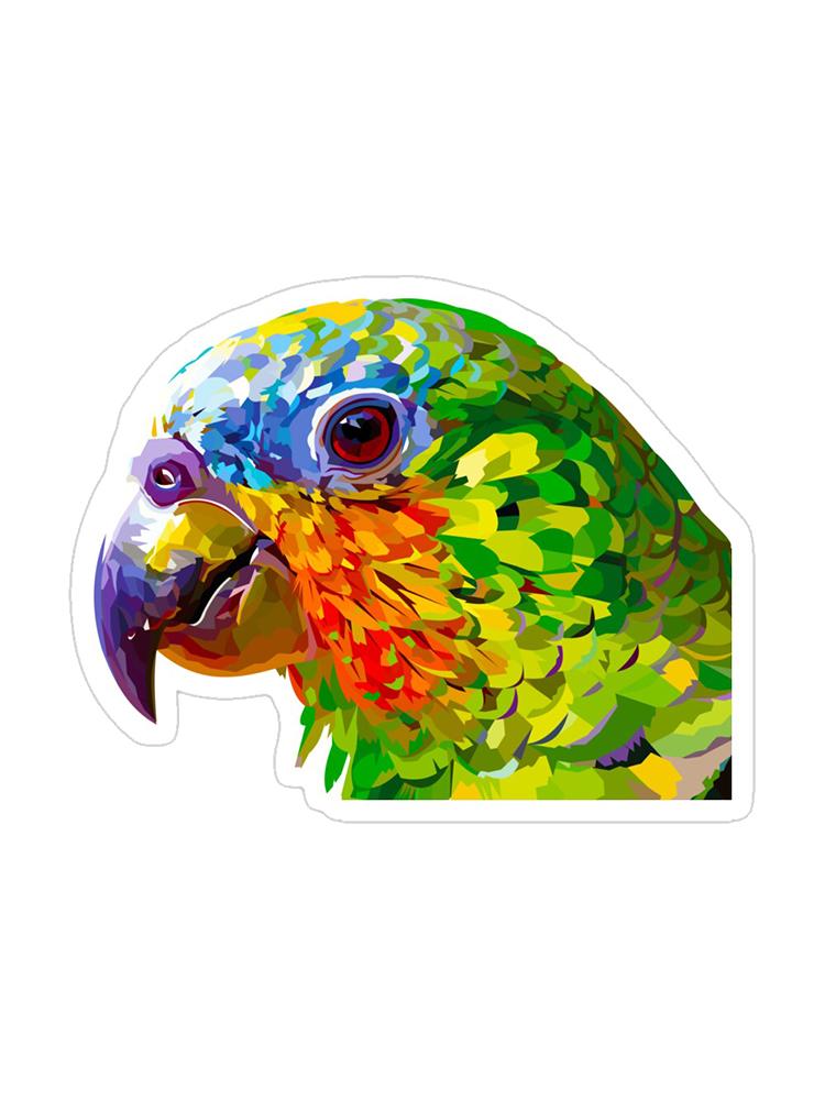 Rainbow Parrot Closeup - Sticker