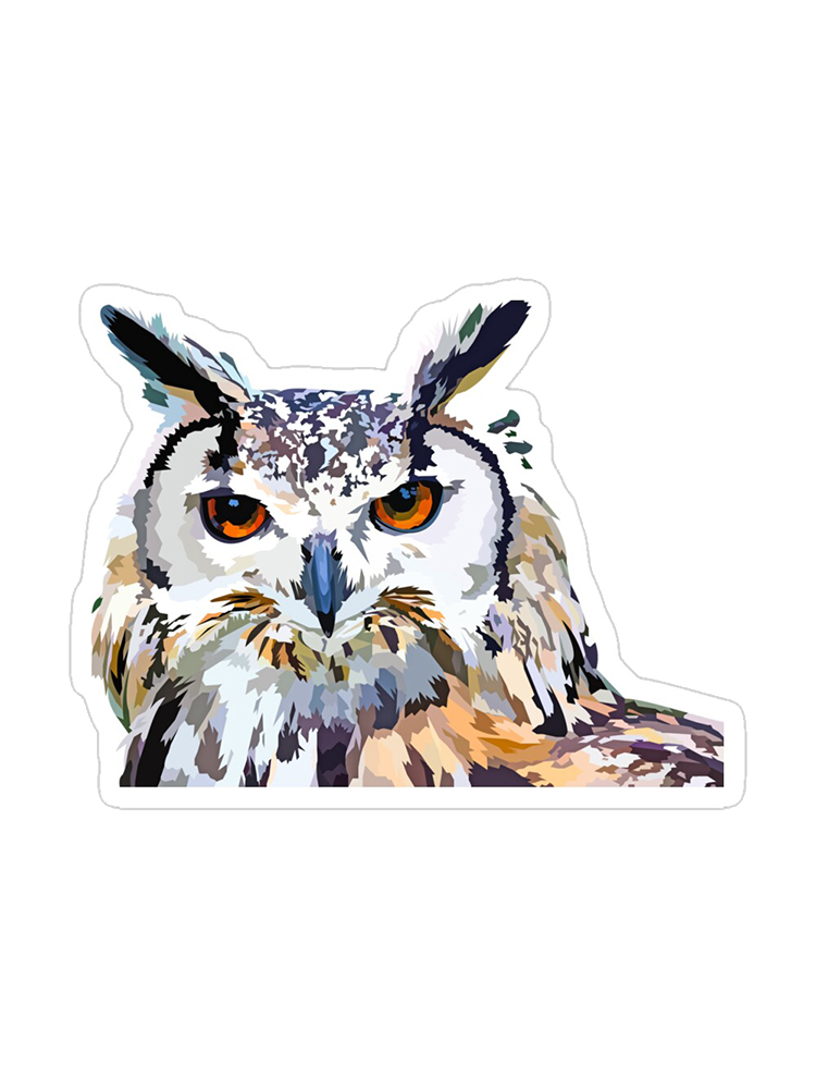 Great horned owl - Sticker